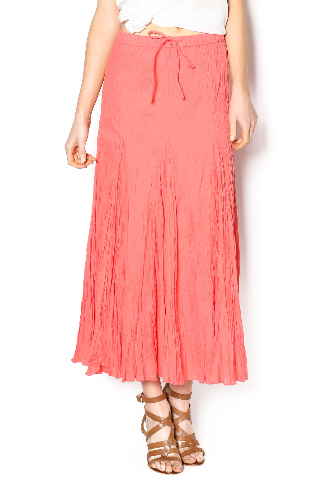 bohemian bird coral maxi skirt from by southern