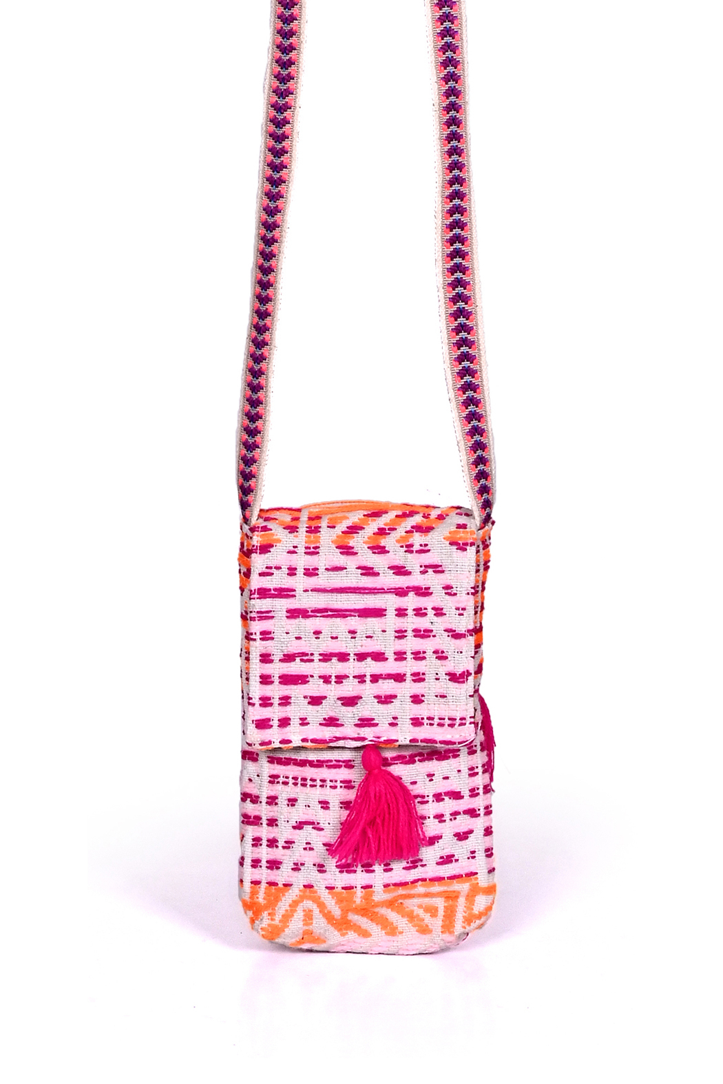 America & Beyond Bohemian Cell Phone Crossbody - Front Cropped Image