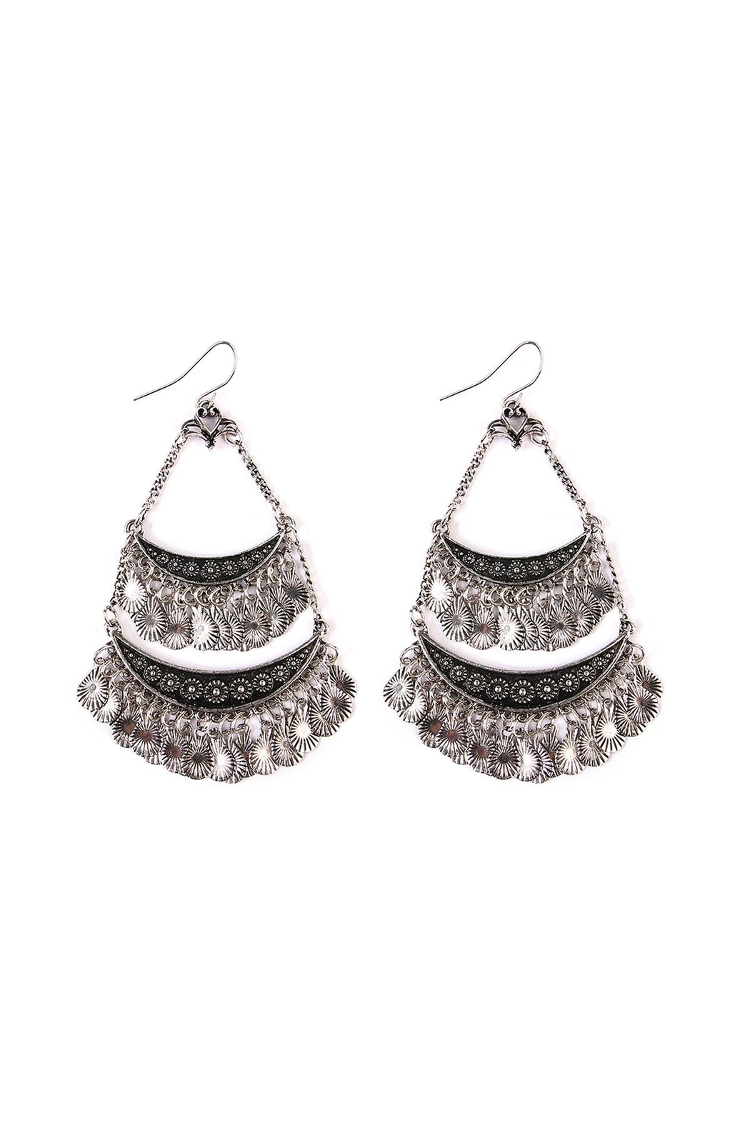 Riah Fashion Bohemian Chandelier-Earrings - Front Cropped Image