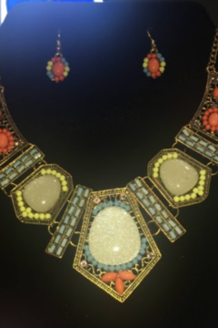no brand Bohemian Necklace and Earring Set - Alternate List Image