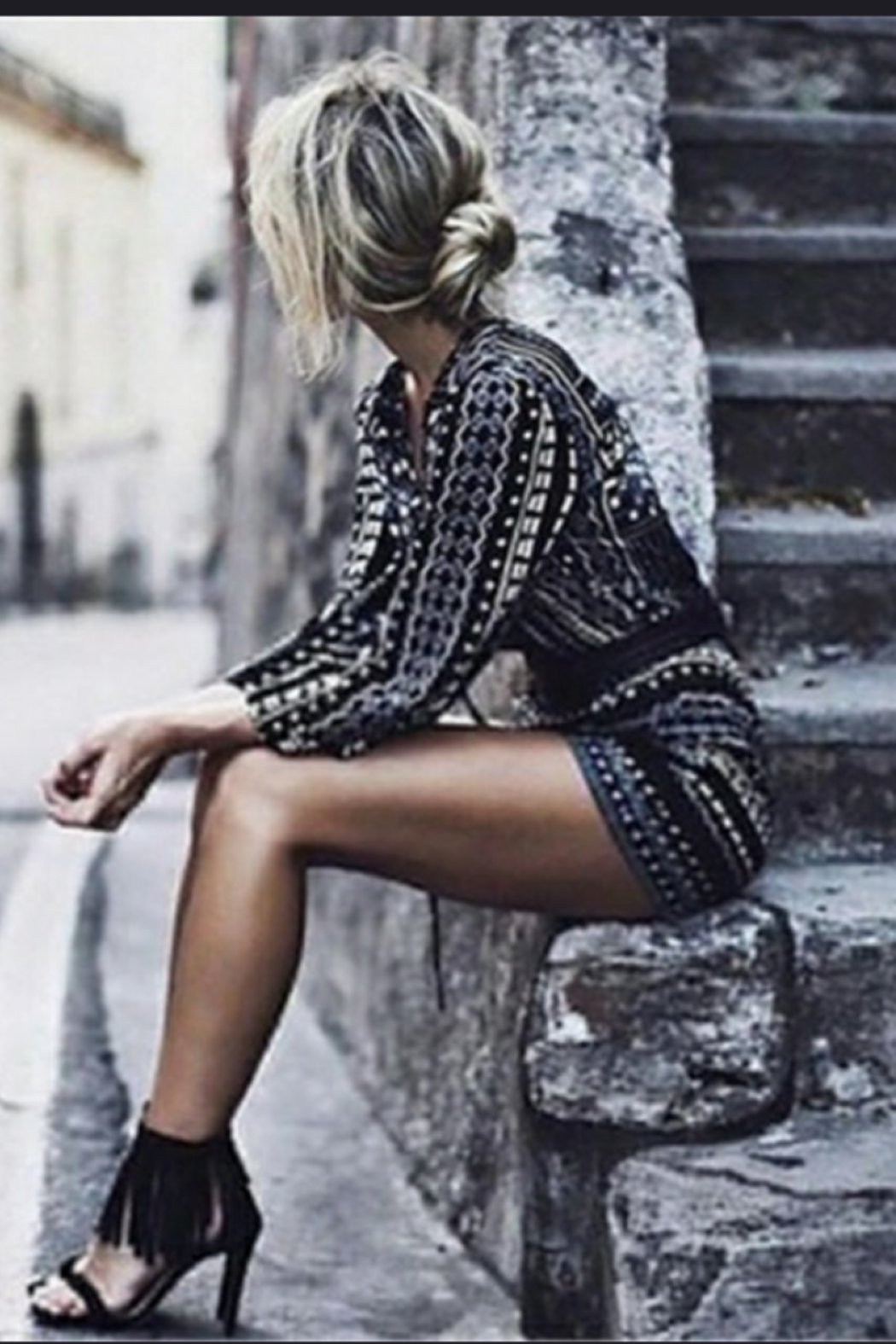Shein Bohemian Romper - Front Cropped Image