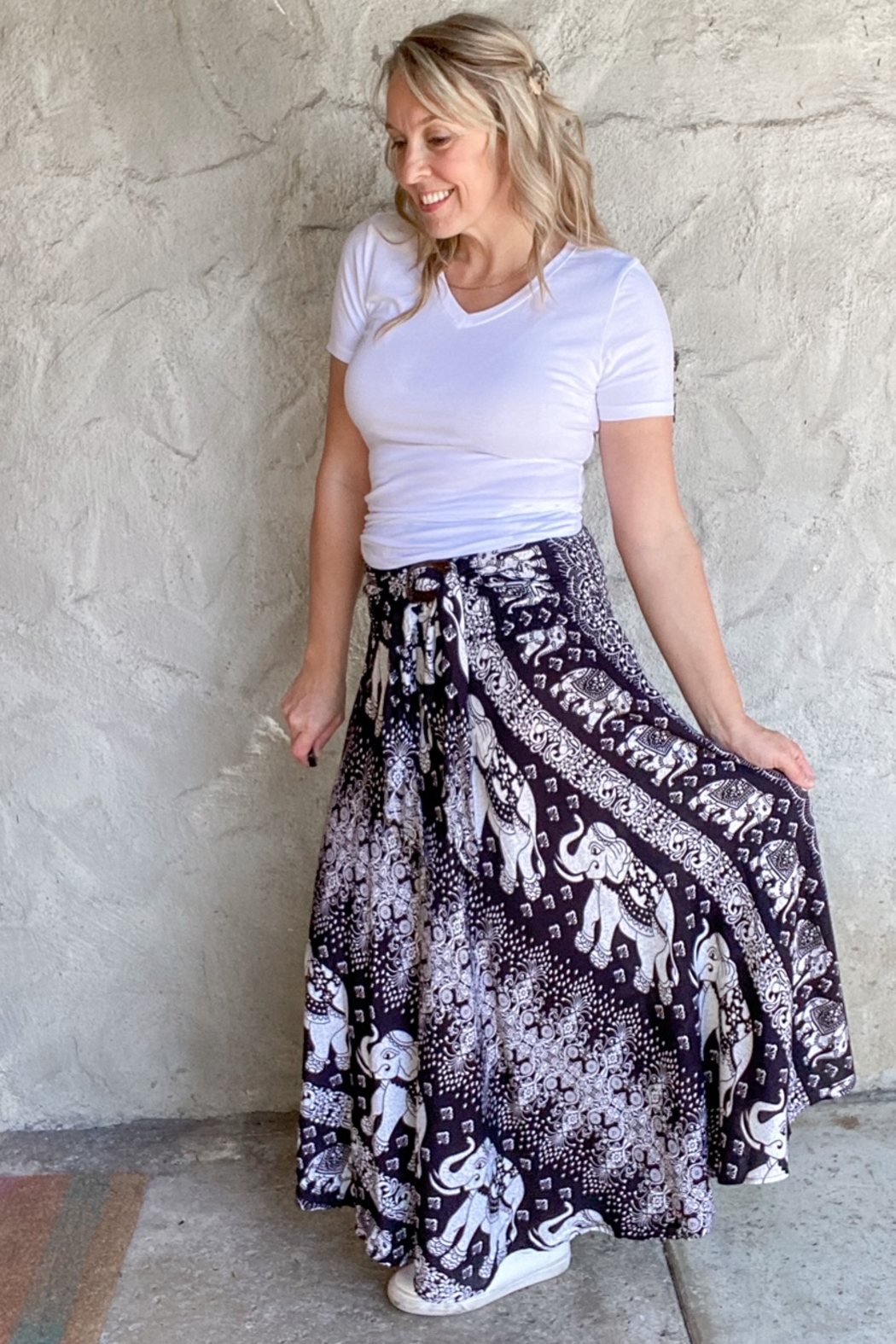 I Boutique  Bohemian Skirt/Dress - Front Cropped Image