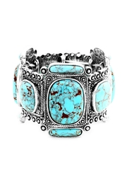 Wild Lilies Jewelry  Bohemian Turquoise Bracelet - Front cropped