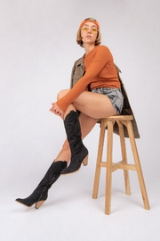 miracle miles  Bohemian/Western Knee-High Boot - Front full body