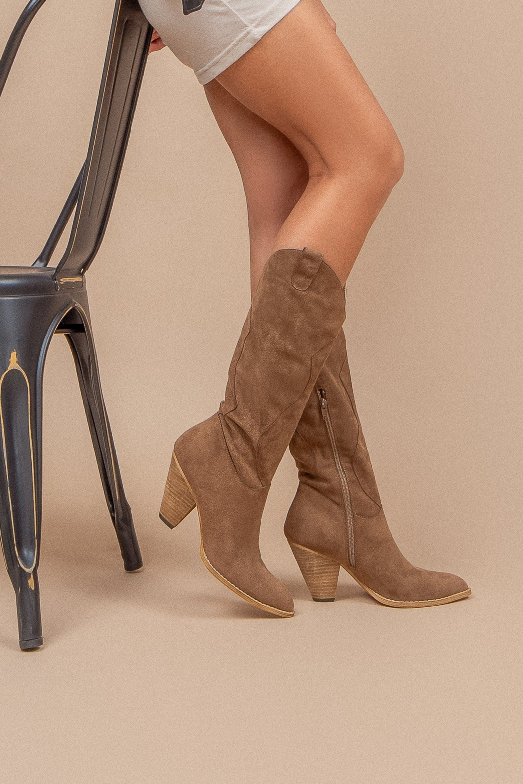 miracle miles  Bohemian/Western Knee-High Boot - Front Full Image