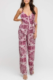 Lush Clothing  Bohemian Wrap Jumpsuit - Product Mini Image