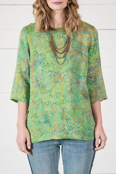 Go Fish Clothing Boho Batik Blouse - Product List Image
