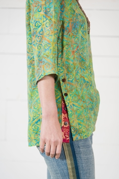 Go Fish Clothing Boho Batik Blouse - Alternate List Image