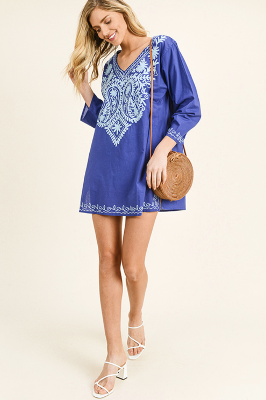MONTREZ BOHO BEACH COVER-UP TUNIC - Front Cropped Image