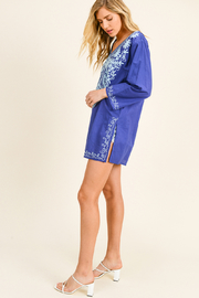 MONTREZ BOHO BEACH COVER-UP TUNIC - Side cropped