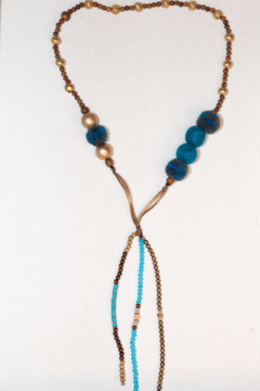 Handmade by CA artist Boho Bead Necklace - Great with Denim! - Product List Image