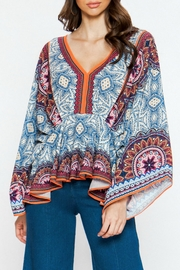 Flying Tomato Boho Bellsleeve Top - Front cropped