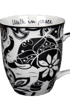 Karma Boho Black and White Mug - Product List Image