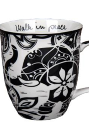 Karma Boho Black and White Mug - Product Mini Image