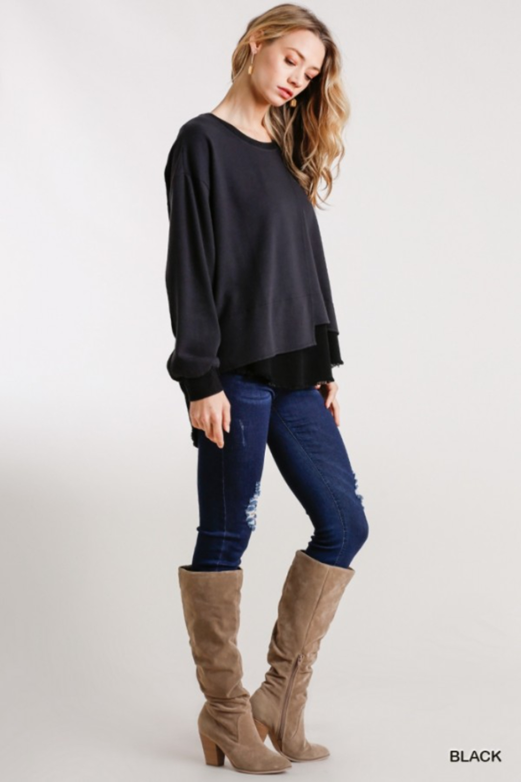 umgee  Boutique Layered Top - Front Full Image