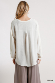 umgee  Boutique Layered Top - Back cropped