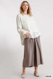 umgee  Boutique Layered Top - Front full body