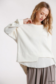 umgee  Boutique Layered Top - Front cropped