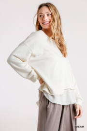 umgee  Boutique Layered Top - Side cropped