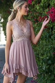 LA MIEL  Boho-Chic Crochet Lace Dress - Product Mini Image
