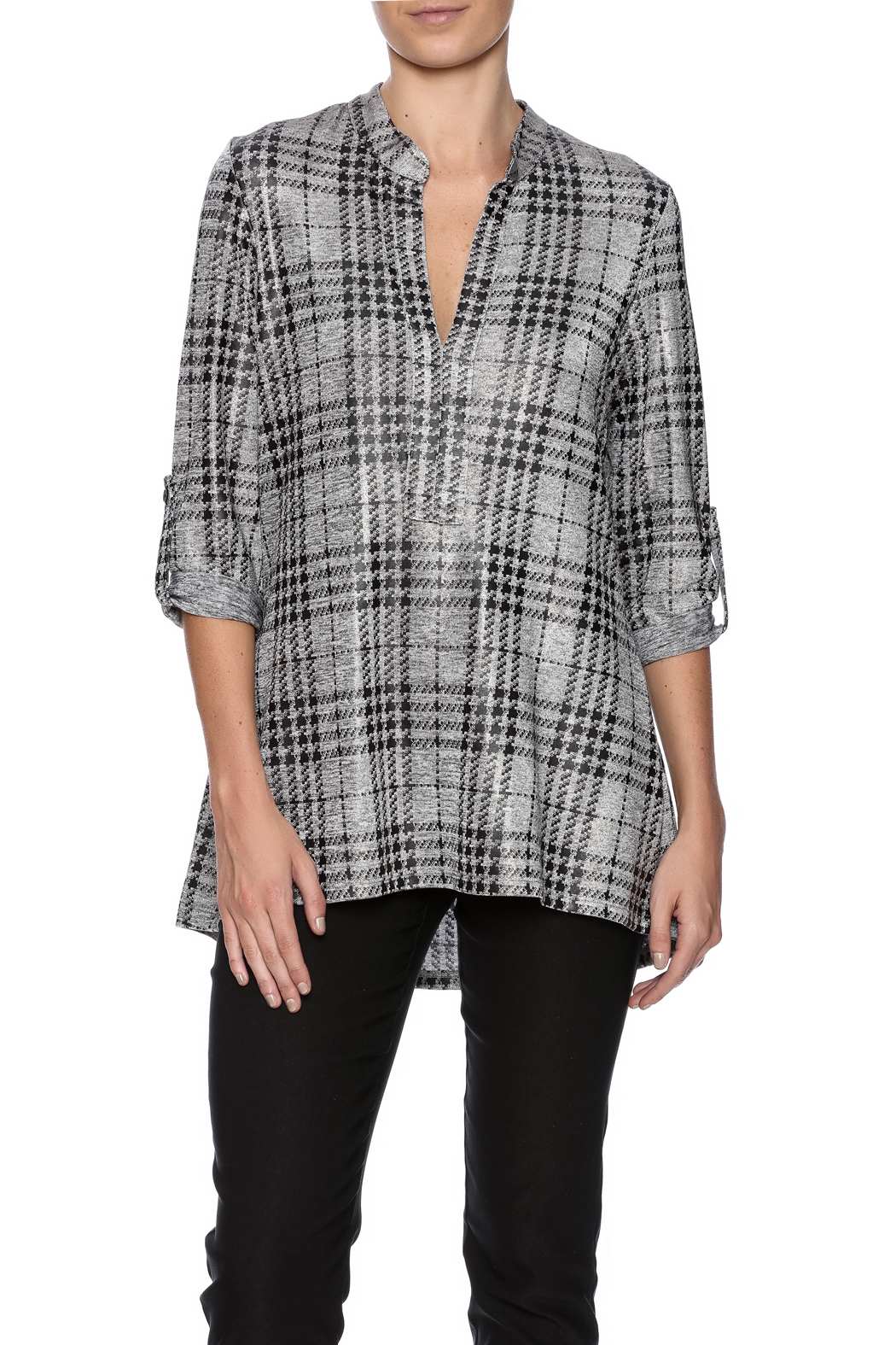 Boho Chic Houndstooth Top - Main Image