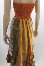 Indian Tropical BOHO CHIC SMOCKED RUFFLE DRESS - Front full body