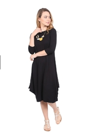 Kosher Casual Boho draping dress #1647 - Front cropped