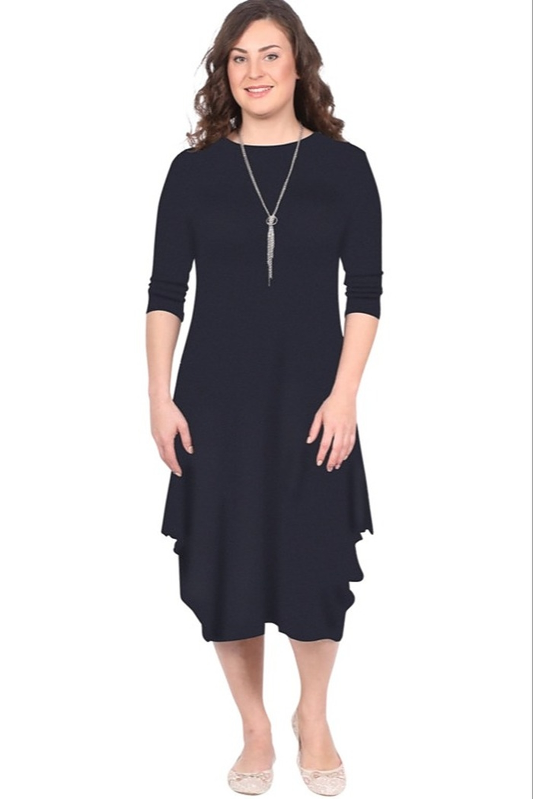 Kosher Casual Boho draping dress #1647 - Front Cropped Image