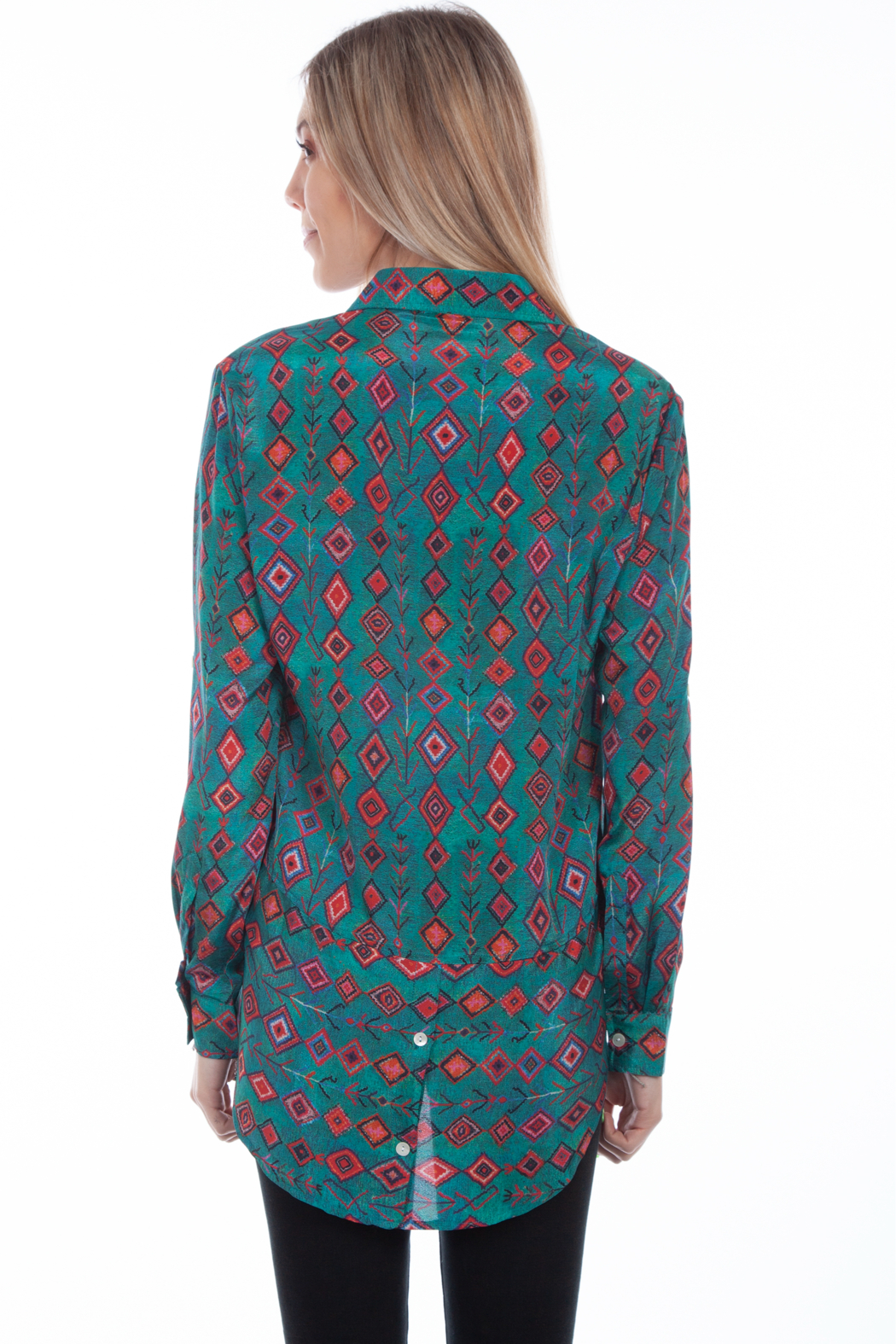 Scully  Boho Embrodiered Blouse - Front Full Image
