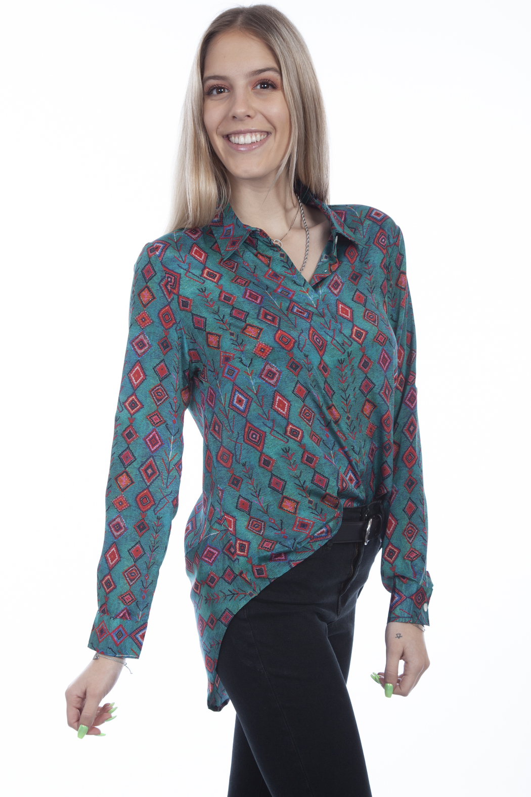 Scully  Boho Embrodiered Blouse - Main Image