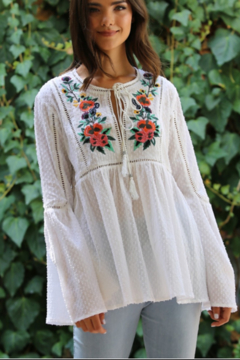 Shoptiques Product: Boho Embroidered Blouse