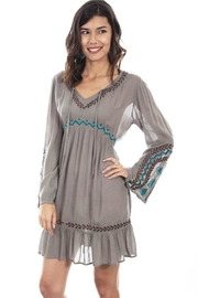 Scully Boho Embroidered Dress - Product Mini Image