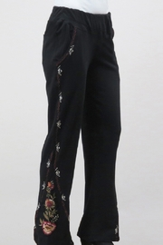 Caite Boho-Embroidered Flare Pant - Product Mini Image