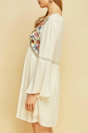 Entro Boho Embroidered-Floral Dress - Side cropped
