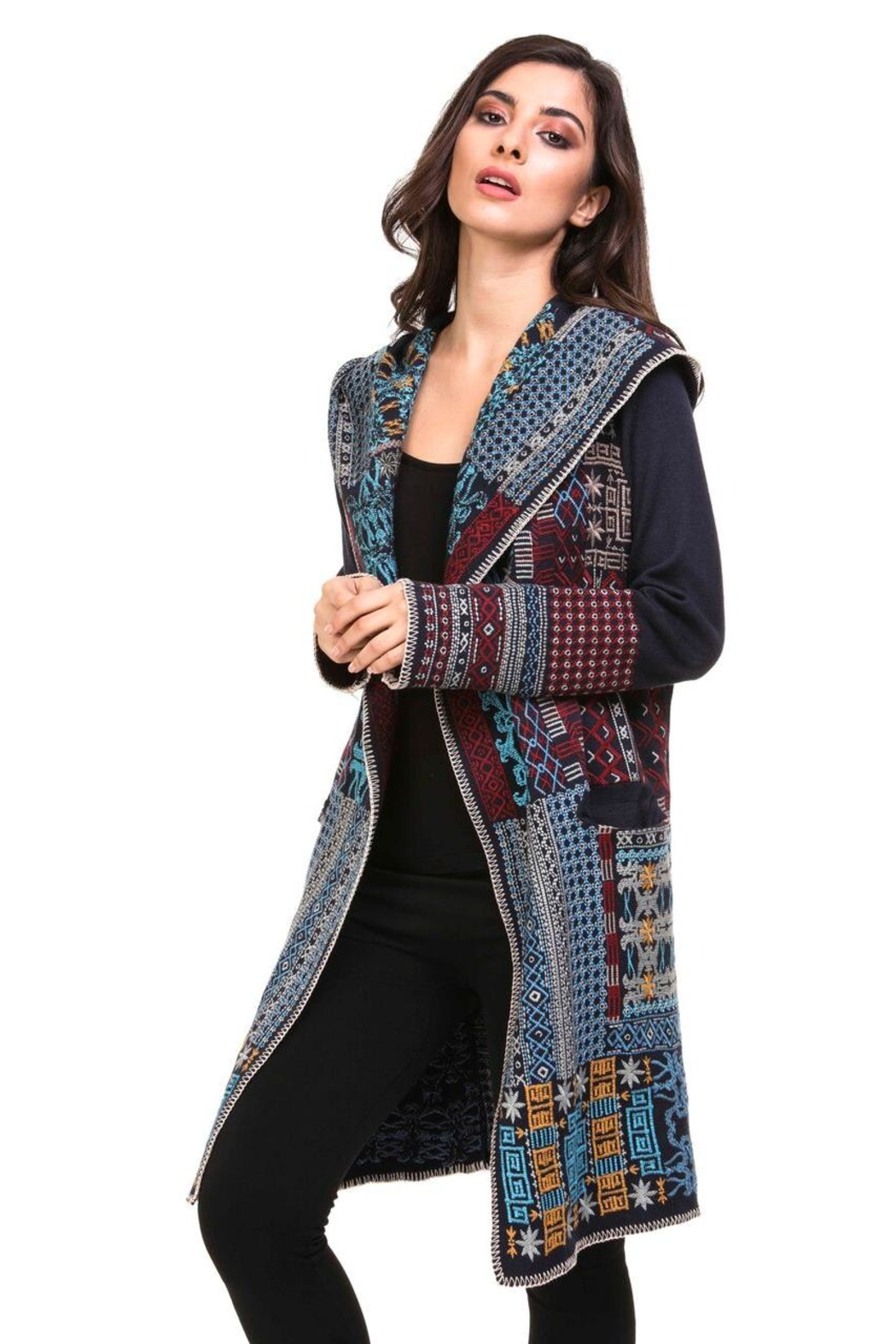 Adore Boho Embroidered Jacket - Front Cropped Image