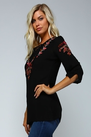 Racine Boho Embroidered Love-Top - Side cropped