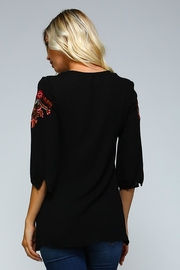 Racine Boho Embroidered Love-Top - Back cropped