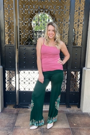 I Boutique  Boho Fit and Flair Pant - Front full body