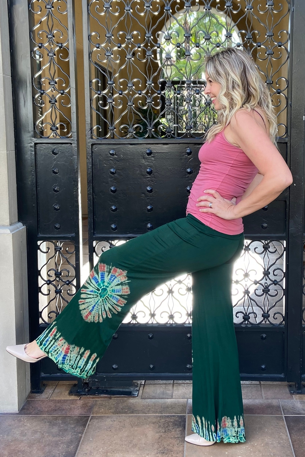 I Boutique  Boho Fit and Flair Pant - Main Image