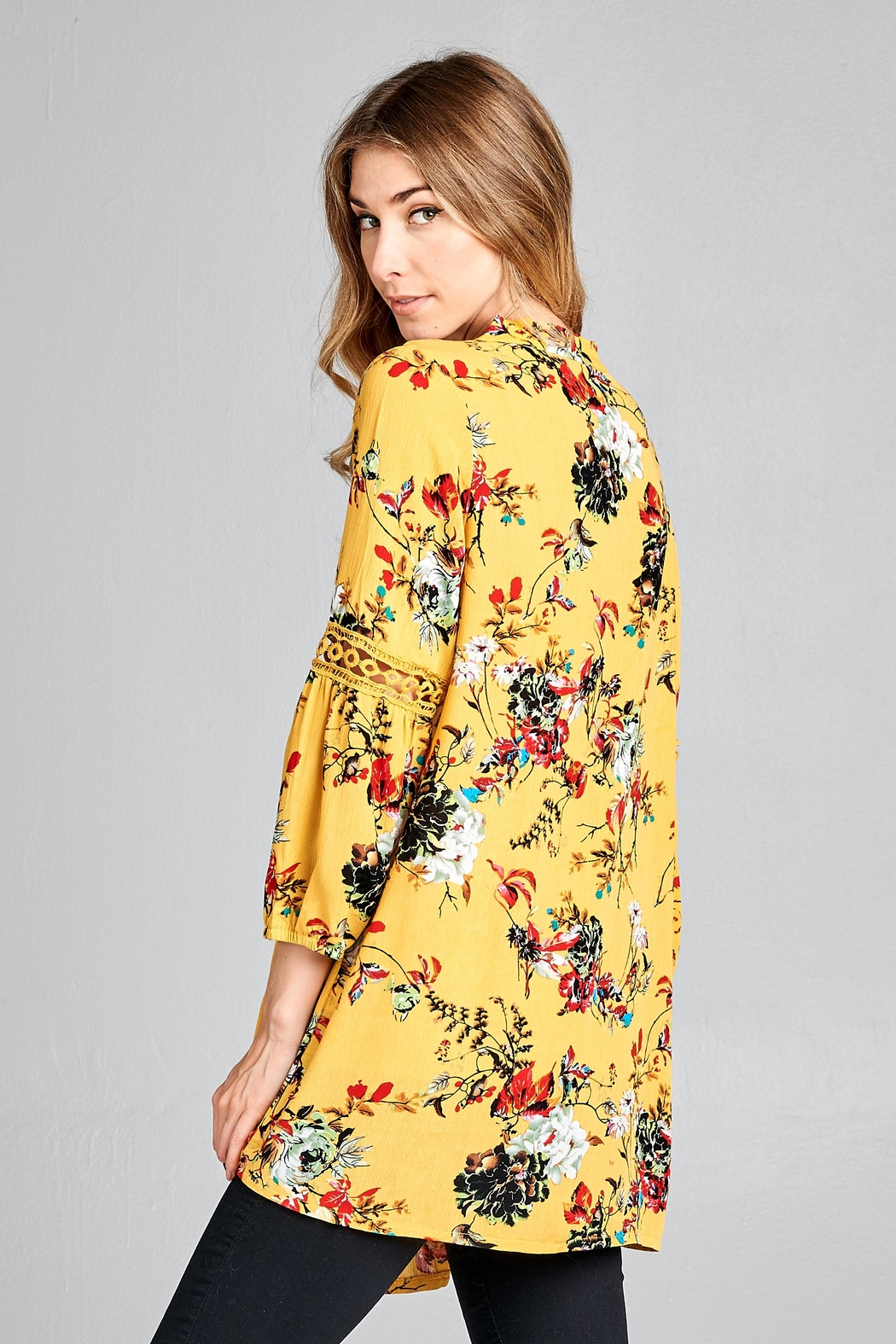 Racine Boho Floral-Print Top - Front Full Image