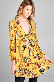 Racine Boho Floral-Print Top - Product Mini Image