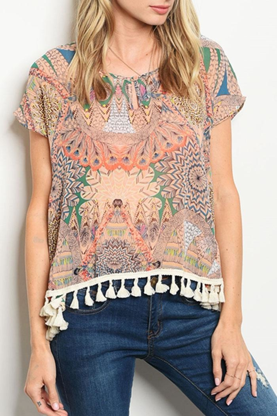 a2e16d8169c22 Collective Concepts Boho Gypsy Blouse from California by Bus Shoppe ...