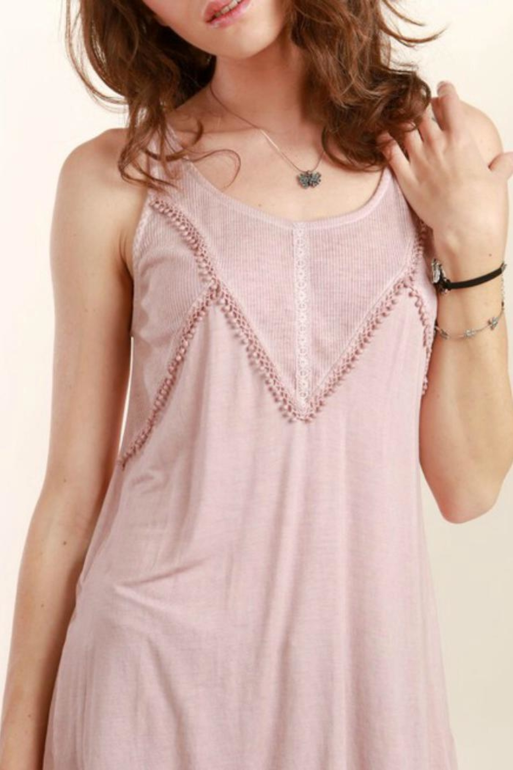 POL Boho Lace Top - Front Cropped Image