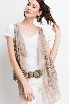 easel Boho Layered Vest - Product List Image