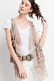 easel Boho Layered Vest - Front cropped