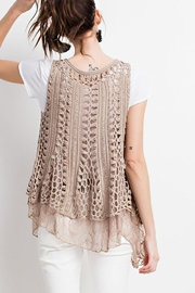 easel Boho Layered Vest - Front full body