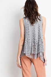 easel Boho Layered Vest - Back cropped