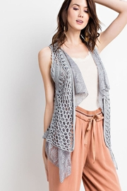 easel Boho Layered Vest - Side cropped