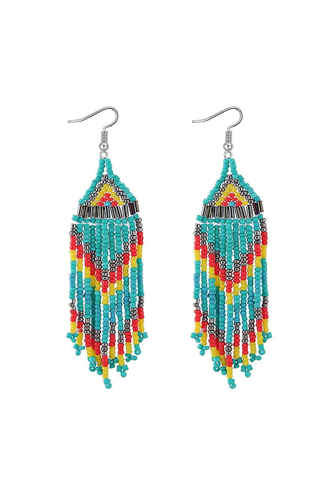 Fashion Pickle Boho Long Earrings - Front Cropped Image