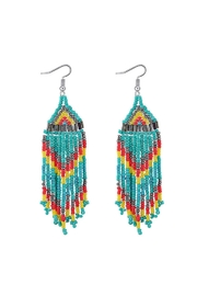 Fashion Pickle Boho Long Earrings - Front cropped
